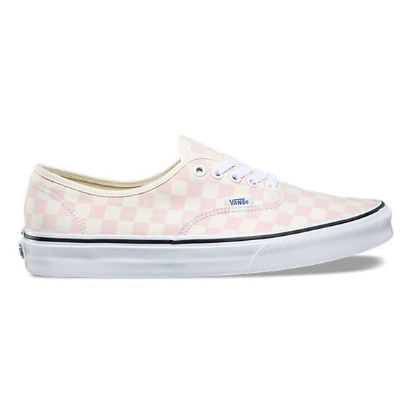 Vans Shoes   Pink Checked Vans Size 7